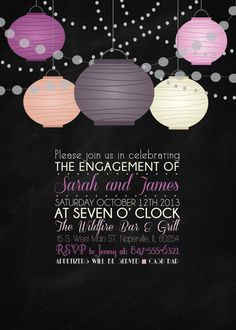 Engagement Invitation Digital Print File by FunablesCreations, $8.00