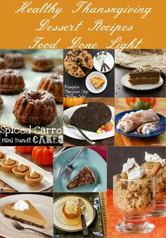 The Best Healthy Thanksgiving Dessert Recipes www.fooddonelight.com