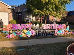 Birthday Yard Signs, Yard Party, Gender Reveal, Graham, Holiday, Christmas, Birthdays, Neon Signs, Baby Shower
