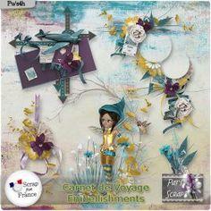 Carnet de voyage - Embellishments by Pat's Scrap