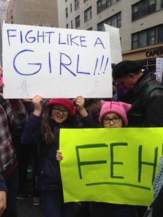 Baby's first protest: The cutest little kids at NYC's Women's March