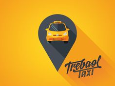 I yielded to fashion long shadow ... :) Logo designed for the company Trebaol Taxi.