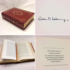 A personal favorite from my Etsy shop https://www.etsy.com/listing/270792045/arthur-m-schlesinger-jr-signed-copy-of-a