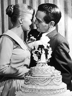 Paul Newman and Joanne Woodward on their wedding day! It was a lifelong union...