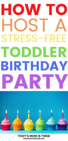 How to Host a Stress-Free Toddler Birthday Party | How to throw a birthday party for a toddler, easy birthday party ideas for one year olds, two year olds, three year olds. #toddlers #parenting Fall Birthday Parties, One Year Birthday, Third Birthday, Diy Birthday, Birthday Celebration, Educational Activities For Toddlers, Party Activities, Kids Party Themes, Party Ideas