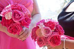 Bridesmaid's bouquets, Garden on the Square, florist, Savannah, GA.