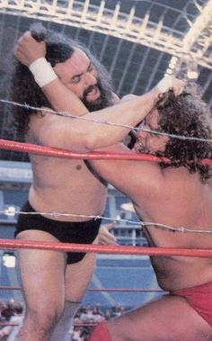 bruiser brody vs terry gordy in a barbed wire match