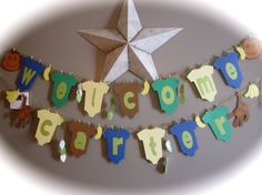 Welcome Baby its a boy banner shower baby naming by thisNthat1109, $29.50