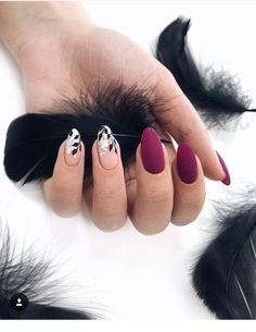 Nails matte nails, acrylic nails, purple nails, nude nails, nails g. Elegant Nail Designs, Elegant Nails, Stylish Nails, Cute Nails, Pretty Nails, Hair And Nails, My Nails, Different Nail Shapes, Dream Nails
