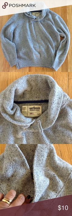 Men's Urban Pipeline Sweater Men/Boys Urban Pipeline Sweater✨55% Cotton & 45% Acrylic✨Size Small✨Shawl Collar✨Button is missing on collar, shown in pic Urban Pipeline Sweaters