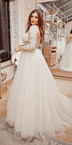 12 Dreamy Plus Size Wedding Dresses With Sleeves 12 Dreamy Plus Size Wedding Dresses With Sleeves ❤ plus size wedding dresses with sleeves princess lace top tulle skirt watters Plus Size Wedding Dresses With Sleeves, Plus Wedding Dresses, Western Wedding Dresses, Wedding Dress Sleeves, Princess Wedding Dresses, Cheap Wedding Dress, Bridal Dresses, Wedding Gowns, Wedding Bride