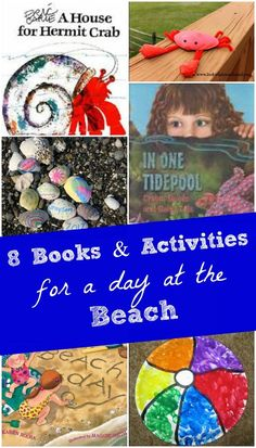 Awesome hands-on ideas that inspire kids to explore the beach -- sensory, crafts & books!