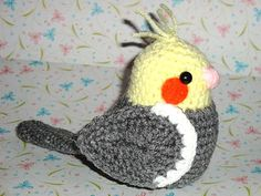 The Cockatiels are designed and are lifesize when finished. (Depends on the yarn used and your crochet tension as you work).
