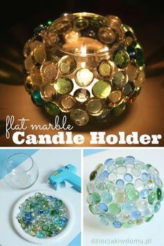 kreatywny lampion z kamyków DIY Flat Marbles, Bible Crafts, Xmas Presents, Candle Holders, Soap, Adidas, Candles, Crafty, Glass
