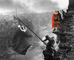 """Batalla de Berlín X Superman: Red Son"" – (Fotografía original: Yevgeny Khaldei) – Butcher Billy©"