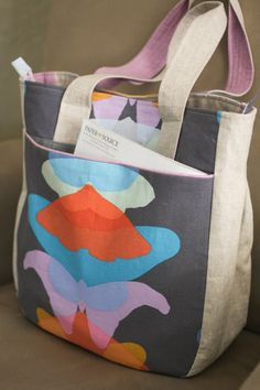 Super Tote pattern by Noodlehead: this beautiful version by Probably Actually