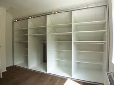 smart closet space could be covered by curtains/mirror Eaves Storage, Attic Storage, Closet Storage, Bedroom Storage, Closet Shelving, Attic Master Bedroom, Bedroom Closet Design, Girls Bedroom, Attic Spaces