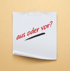 Heute habe ich etwas für Fortgeschrittene vorbereitet: #Quiz - vor oder aus? #Deutsch #German