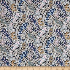 From the world famous Liberty Of London, this exquisite cotton lawn fabric is finely woven, silky, very lightweight and ultra soft. This gorgeous fabric is oh so perfect for flirty blouses, dresses, lingerie, even quilting. Colors include white, shades of purple, shades of blue, brown, pink, and black.