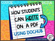 How to Write on a PDF Using Dochub by Rockin Resources Education Logo, Teacher Education, Elementary Education, Upper Elementary, School Teacher, Teacher Stuff, Teaching Technology, Educational Technology, Technology Tools