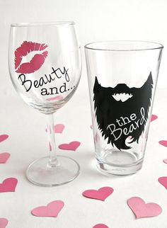 Beauty and the Beard Beard Wine Glass Beard Beer Mug | Etsy