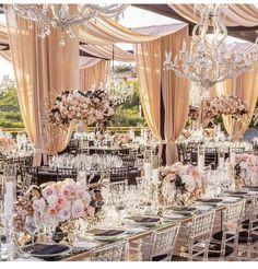 Beautiful glass and floral reception setup Wedding Set Up, Cute Wedding Ideas, Wedding Ties, Luxury Wedding, Dream Wedding, Wedding Inspiration, Romantic Wedding Receptions, Wedding Ceremony, Apartment Balcony Decorating