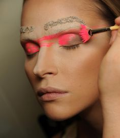velvetrunway: Manish Arora SS 2012 backstage posted by...