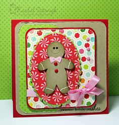 Sizzix Gingerbread Holiday Card