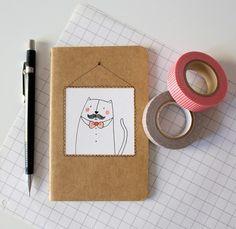 unique altered moleskine journal - SMALL. €8,50, via Etsy.