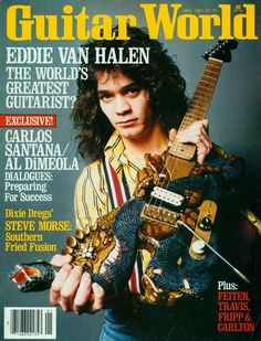 Eddie Van Halen on the cover of Guitar World January 1981 Eddie Van Halen, Alex Van Halen, You Really Got Me, David Lee Roth, Under The Influence, Music Magazines, Rockn Roll, Joy Division, Classic Rock