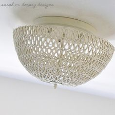 Make a rope light fixture pendant tutorial and 45 BEST Shabby Lifestyle Decor & Accessory DIY Tutorials EVER!! From MrsPollyRogers.com