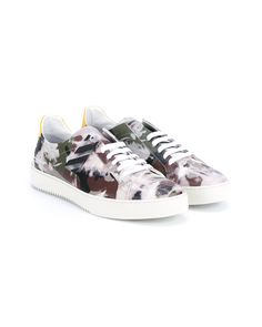 save off 0dd56 87c3c Off-White c o Virgil Abloh   Multicolor Camouflage Leather Sneakers for Men    Lyst