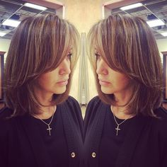 Color, baby lights and balayage, toner and kerastase treatment on my guest Amy! The perfect combo of dark and light @sf_salon  #sfsalon #behindthechair #babylights #brunette #brunetteblonde #kerastase #shorthair #balayage #balayagehighlights #healthyhair