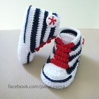 Crochet Pattern Baby Boy Booties Baby Boy by HandHeartandSole Crochet Baby Clothes, Crochet Baby Shoes, Crochet For Boys, Baby Knitting Patterns, Baby Patterns, Crochet Patterns, Booties Crochet, Crochet Slippers, Crochet Converse