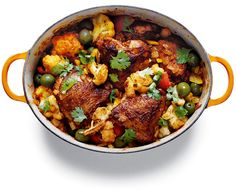 elegant North African stew from Katie Lee. Chicken serves as the protein, bathed in a blend of North African spices