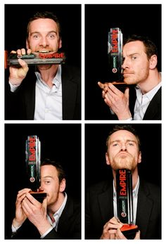 "Michael Fassbender phone booth photo for Empire. Just LOVE this guy so much!! The face, the style, the acting. Is there a word beyond 'perfect'? (PS Watched ""Shame"" yesterday. Both he and Carey Mulligan are very impressive.)"