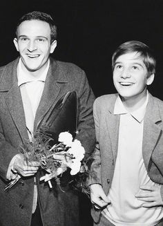 lefeufollet:  François Truffaut and Jean-Pierre Léaud at the 12th Berlin International Film Festival, 1962