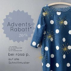 Adventsrabatt auf alle rosa p. Schnittmuster bis 27. Dezember 2020 Tunic Tops, Shopping, Women, Fashion, Sew Dress, December, Sewing Patterns, Gowns, Moda