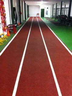 Indoor sprint track