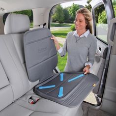 BRICA Seat Guardian™ Car Seat Protector -Gray
