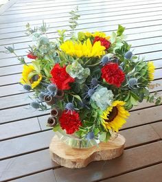Fresh Australia day flowers perfect for a table arrangement.