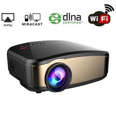 Wireless Wifi Projector for iPhone Android Smartphone WEILIANTE Portable Mini LED Movie Video Projector Support Full HD 1080P With HDMI USB SD VGA AV for Home Cinema TV Laptop Upgraded *** Check out this great product-affiliate link. #VideoProjectors