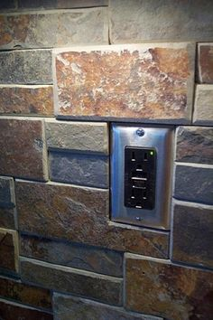 Kitchen Backsplash Outlet slate switch plate outlet cover unique vermont gray stone light