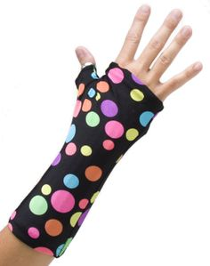 Cast covers for those ugly casts due to broken bones. I wish I had thought of it. :) Fun prints!!!