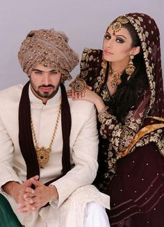 Asian wedding outfits bride groom