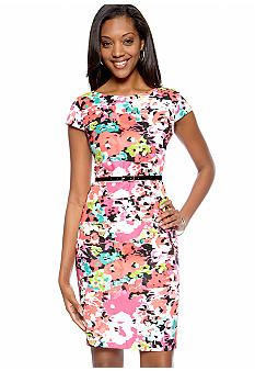 AGB Floral Sheath Dress - Belk.com