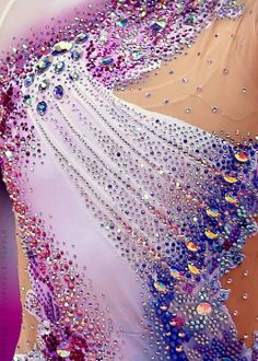 Beautiful close up rhythmic gymnastics leotard