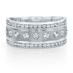 1 ct. tw. Diamond Band in 14K Gold available at #HelzbergDiamonds