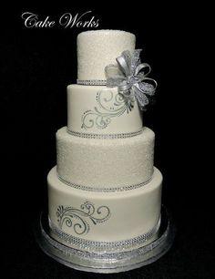 wedding cakes with sparkles   visit cakesdecor com