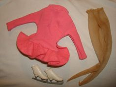 Vintage 1960s Barbie Doll Skater's Waltz # 1629 (1965-1966) ~ Dress, Nylons, Skates ~Tagged by PastPossessionsOnly on Etsy